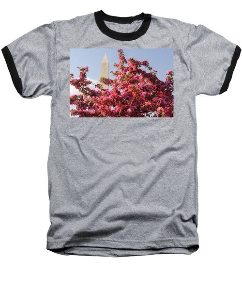 Baseball T-Shirt featuring the photograph Cherry Trees And Washington Monument 5 by Mitchell R Grosky