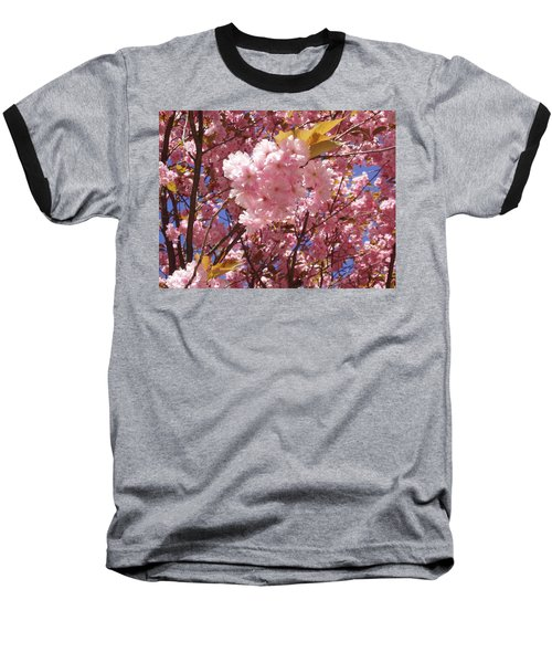 Cherry Trees Blossom Baseball T-Shirt