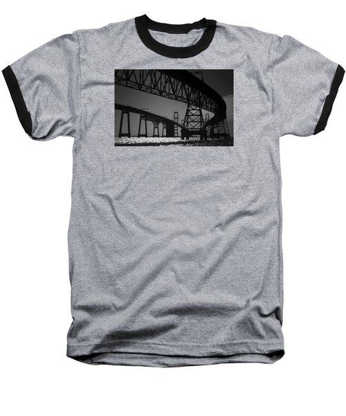 Chesapeake Bay Bridge At Annapolis Baseball T-Shirt by Skip Willits