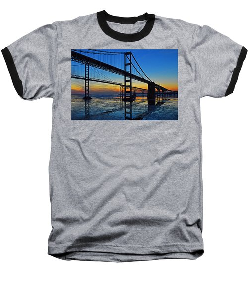 Chesapeake Bay Bridge Reflections Baseball T-Shirt