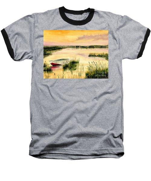 Chesapeake Marsh Baseball T-Shirt by Melly Terpening