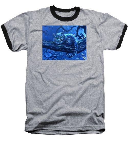 Cheshire Cat Baseball T-Shirt by Tom Carlton