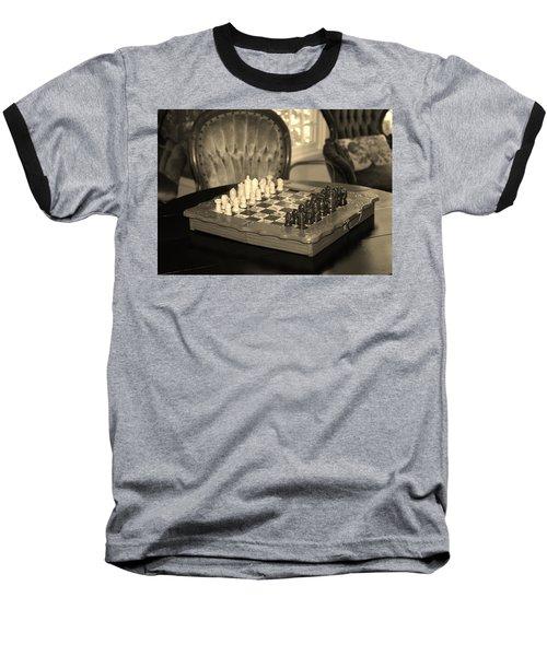 Baseball T-Shirt featuring the photograph Chess Game by Cynthia Guinn
