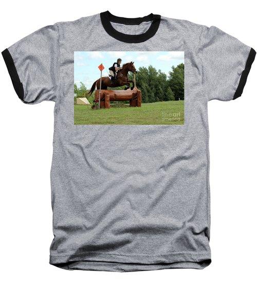 Chestnut Over Log Jump Baseball T-Shirt