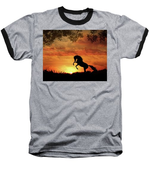 Chestnut Sunset Baseball T-Shirt