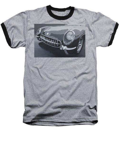 Baseball T-Shirt featuring the painting Chevrolet Corvette 1954 by Anna Ruzsan