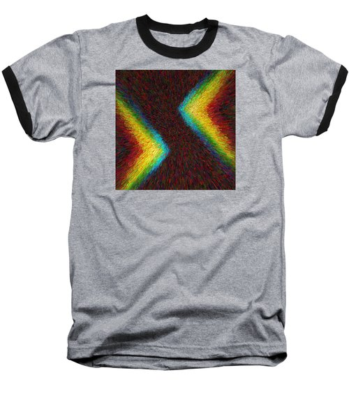 Baseball T-Shirt featuring the photograph Chevron Double Rainbow C2014 by Paul Ashby