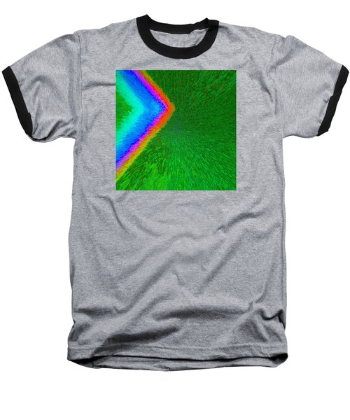 Baseball T-Shirt featuring the painting Chevron Rainbow C2014 by Paul Ashby