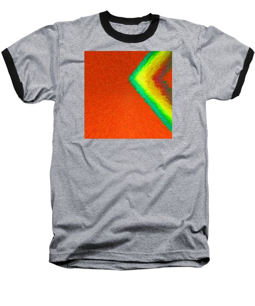 Chevron Rainbow Orange C2014 Baseball T-Shirt