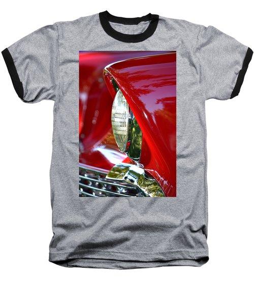 Chevy Headlight Baseball T-Shirt by Dean Ferreira