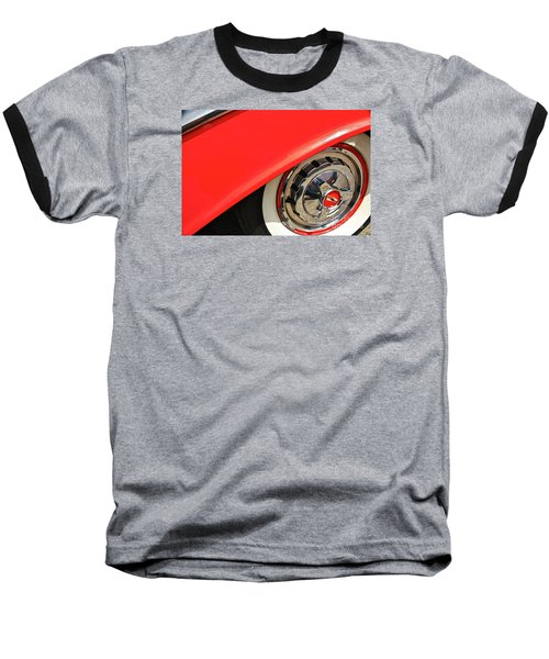 Baseball T-Shirt featuring the photograph 1955 Chevy Rim by Linda Bianic
