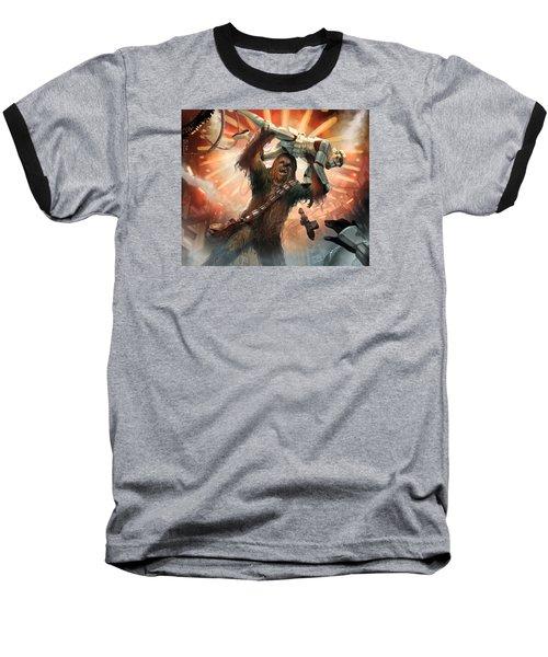 Chewbacca - Star Wars The Card Game Baseball T-Shirt