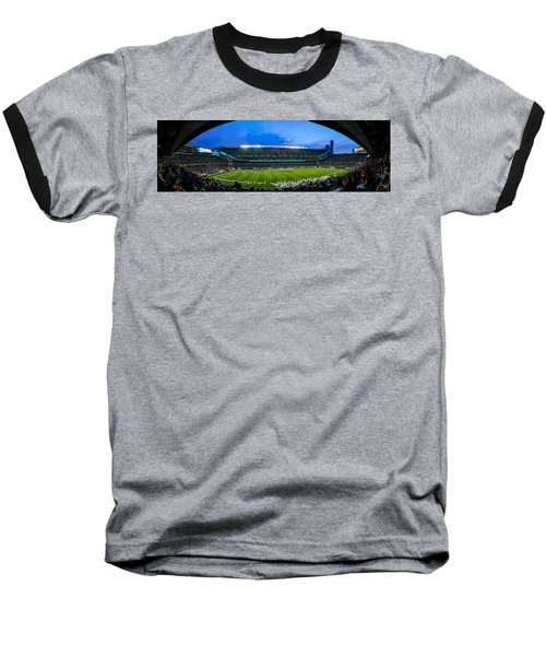 Chicago Bears At Soldier Field Baseball T-Shirt by Steve Gadomski