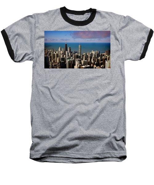 Chicago Before Sunset Baseball T-Shirt