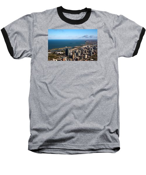 Chicago From Above Baseball T-Shirt