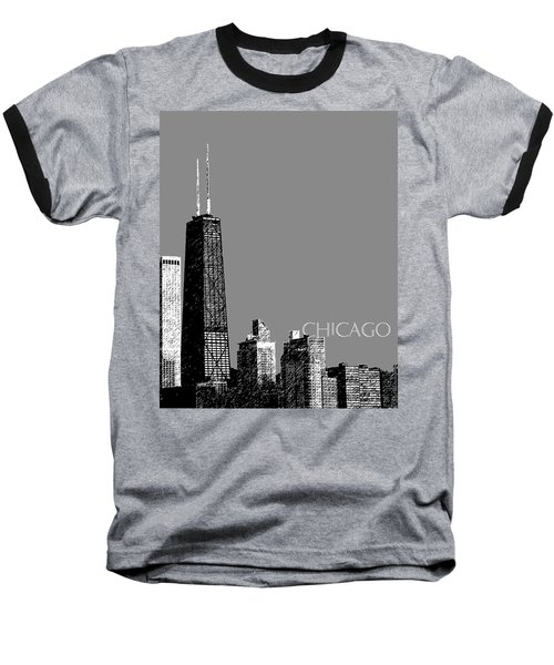 Chicago Hancock Building - Pewter Baseball T-Shirt
