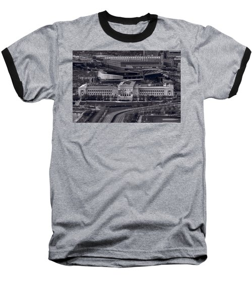 Chicago Icons Bw Baseball T-Shirt by Steve Gadomski