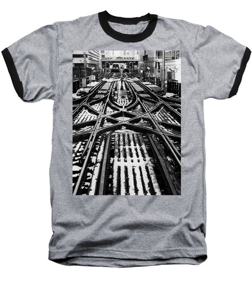 Chicago 'l' Tracks Winter Baseball T-Shirt
