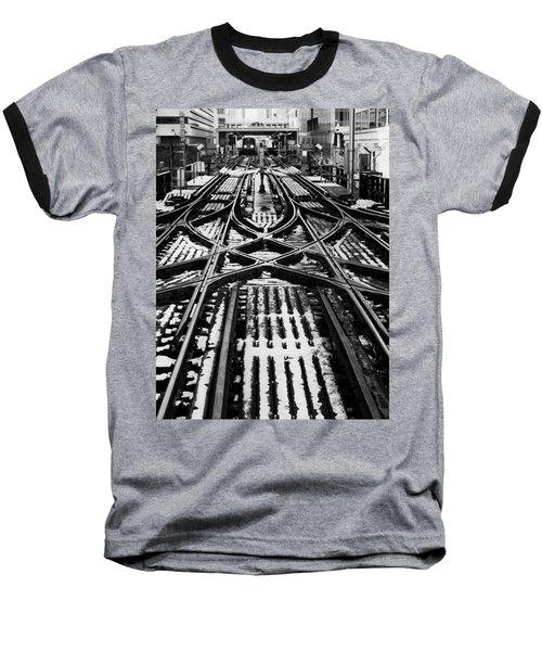 Chicago 'l' Tracks Winter Baseball T-Shirt