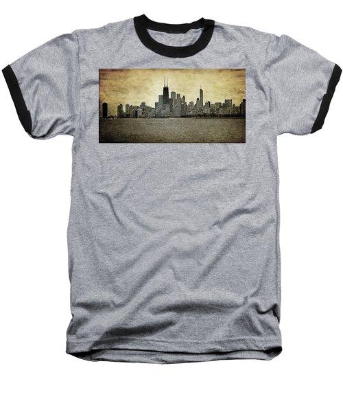 Chicago On Canvas Baseball T-Shirt