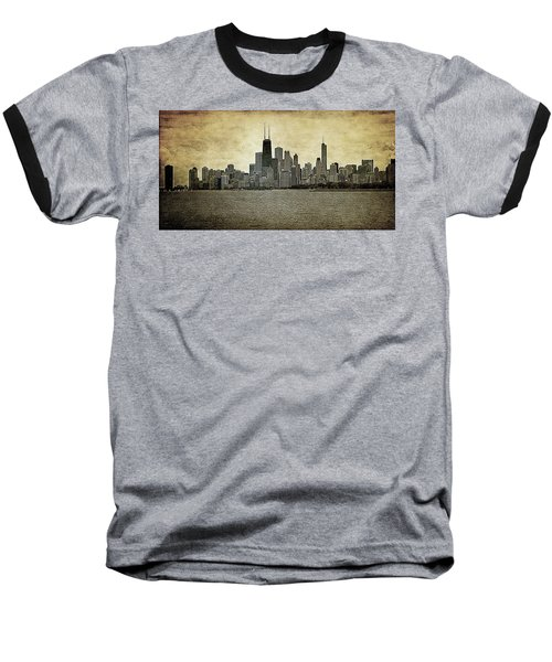 Chicago On Canvas Baseball T-Shirt