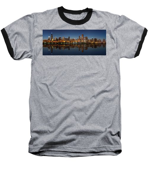 Chicago Reflected Baseball T-Shirt by Semmick Photo