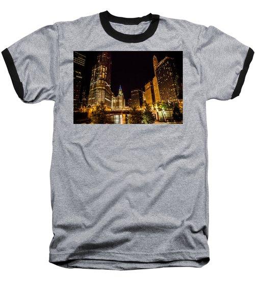 Chicago Riverwalk Baseball T-Shirt by Melinda Ledsome