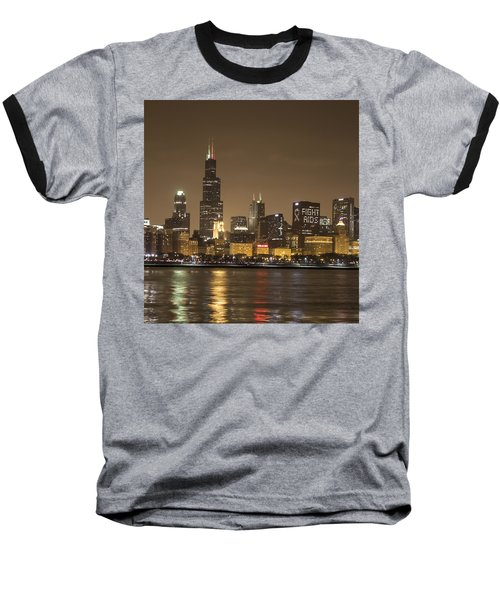 Chicago Skyline - World Aids Day 12/1/12 Baseball T-Shirt