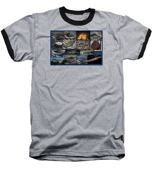 Chicago Sports Collage Baseball T-Shirt by Thomas Woolworth