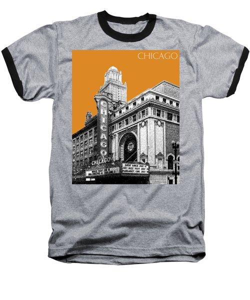 Chicago Theater - Dark Orange Baseball T-Shirt