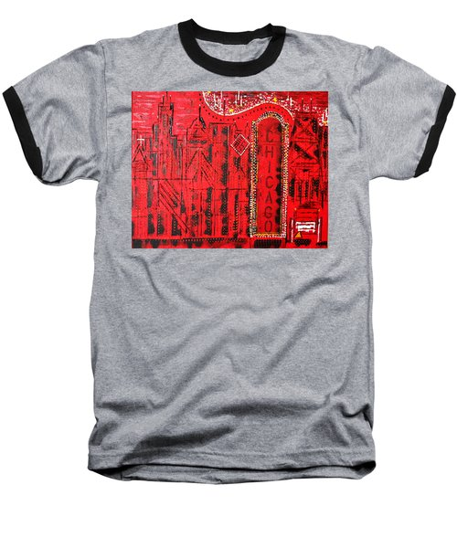 Chicago Theater Baseball T-Shirt by George Riney