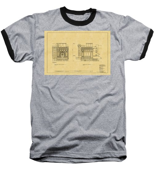 Chicago Theatre Blueprint 2 Baseball T-Shirt
