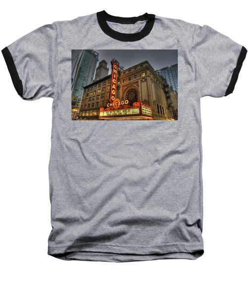 Chicago Theatre Hdr Baseball T-Shirt