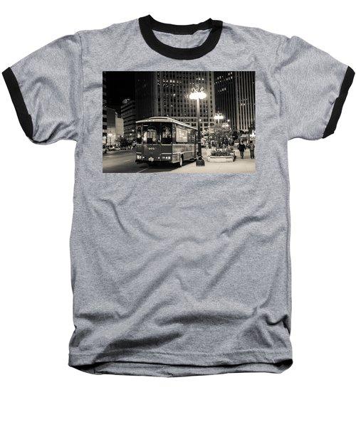 Chicago Trolly Stop Baseball T-Shirt by Melinda Ledsome