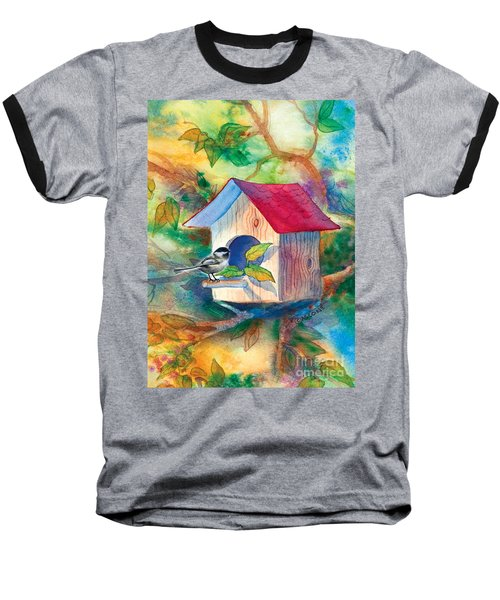 Chickadee Bungalow Baseball T-Shirt