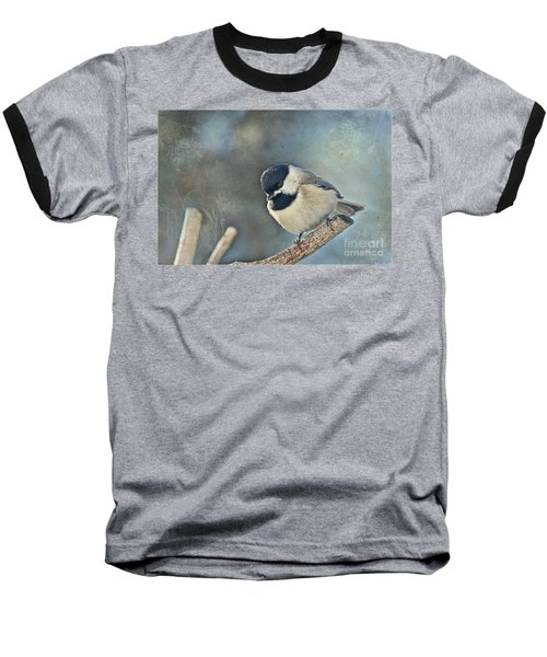 Chickadee With Texture Baseball T-Shirt
