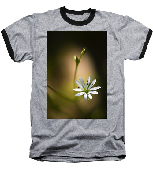 Chickweed Blossom And Bud Baseball T-Shirt
