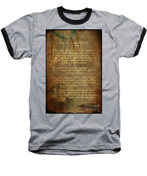 Chief Tecumseh Poem Baseball T-Shirt