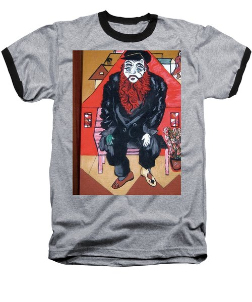 Baseball T-Shirt featuring the painting Chigall By Nora by Nora Shepley