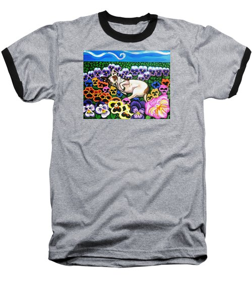 Chihuahua In Flowers Baseball T-Shirt