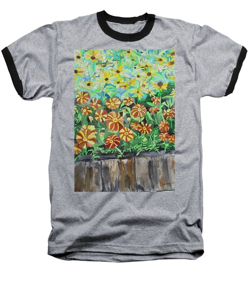 Childlike Flowers Baseball T-Shirt
