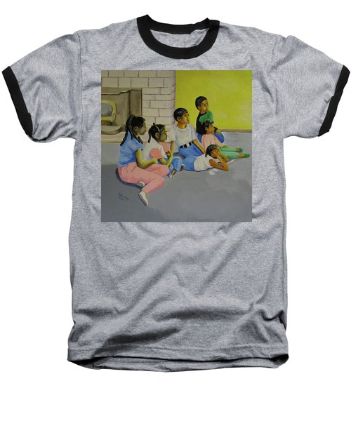Baseball T-Shirt featuring the painting Children's Attention Span  by Thomas J Herring