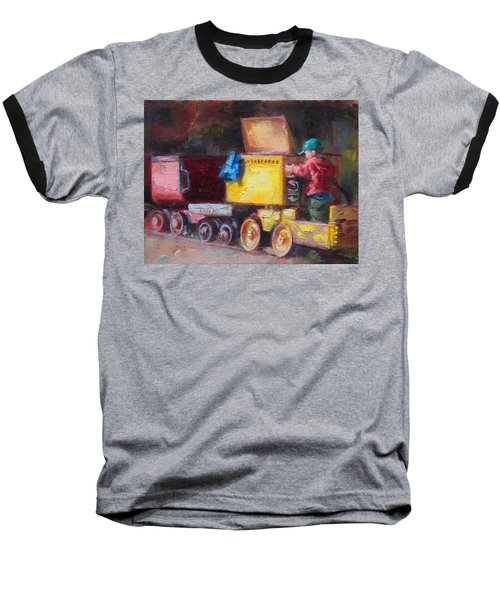 Child's Play - Gold Mine Train Baseball T-Shirt