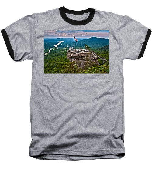 Baseball T-Shirt featuring the photograph Chimney Rock At Lake Lure by Alex Grichenko