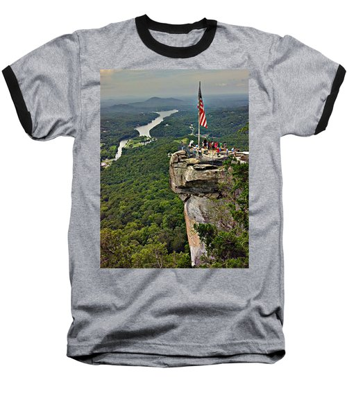 Baseball T-Shirt featuring the photograph Chimney Rock Overlook by Alex Grichenko