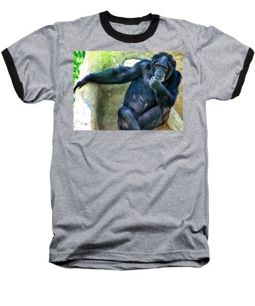 Baseball T-Shirt featuring the photograph Chimp 1 by Dawn Eshelman