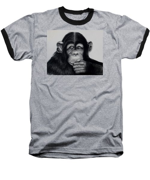 Chimp Baseball T-Shirt by Jean Cormier