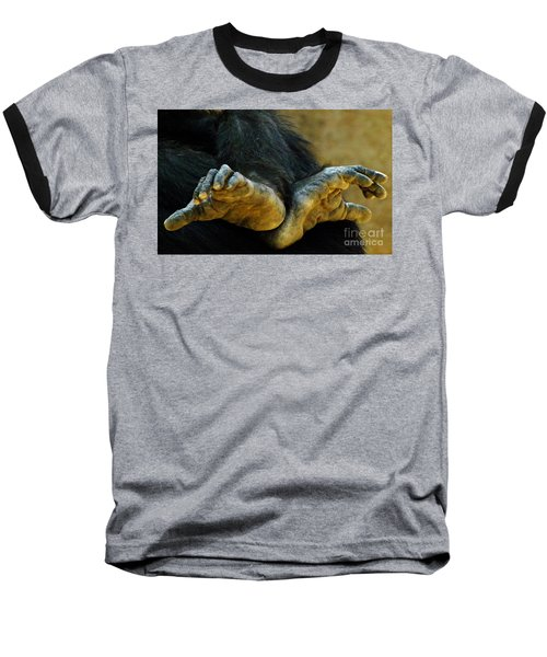 Baseball T-Shirt featuring the photograph Chimpanzee Feet by Clare Bevan