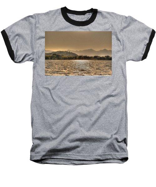 China Lake Sunset Baseball T-Shirt