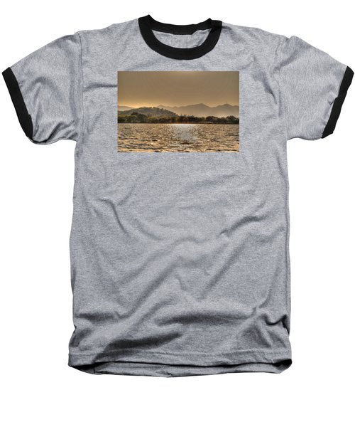 China Lake Sunset Baseball T-Shirt